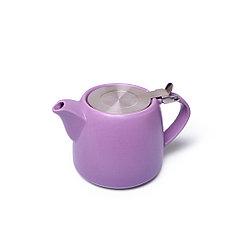 Заварочный чайник 600 мл с ситечком, СИРЕНЕВЫЙ (керамика)