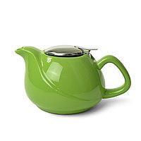 Заварочный чайник 750 мл с ситечком ЗЕЛЕНЫЙ (керамика)