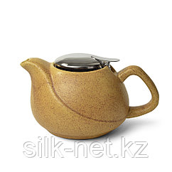 Заварочный чайник 750 мл с ситечком, цвет ПЕСОЧНЫЙ (керамика)