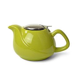 Заварочный чайник 750 мл с ситечком, цвет СВЕТЛО-ЗЕЛЕНЫЙ (керамика)