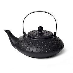 Заварочный чайник 750 мл с ситечком, цвет ЧЕРНЫЙ (керамика)