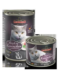 Консервы для взрослых кошек с кроликом, Leonardo Rabbit - 400 гр
