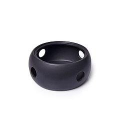Подставка для заварочного чайника 16x7 см, цвет ЧЕРНЫЙ (керамика)