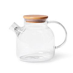 Чайник заварочный 1200мл со стальным фильтром (стекло)