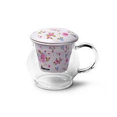 Кружка для чая CASABLANCA 500 мл с керамическим фильтром (стекло)