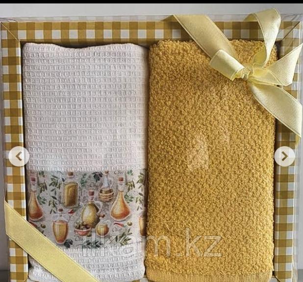 """Подарочный набор полотенец """"Желтый """""""