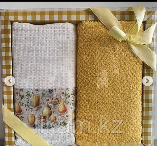 """Подарочный набор полотенец """"Желтый """", фото 2"""