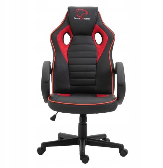 Кресло геймерское игровое  F4G FG21, черное и красное