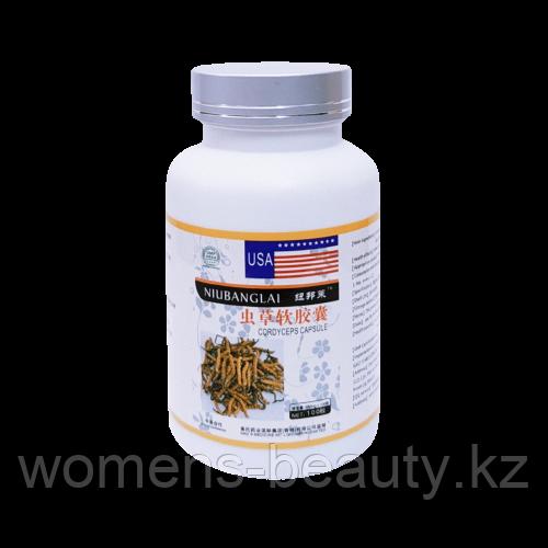 "Кордицепс (Cordiceps sinensis) - Капсулы ""Niubanglai"" 500mg × 100 капсул"