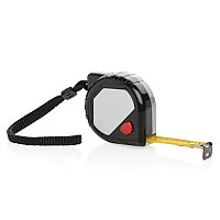 Рулетка Compact 5м/19мм, черный; серый, Длина 6 см., ширина 6 см., высота 3,2 см., диаметр 3,5 см., P113.941