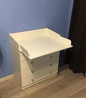 Комод Фея 1580 пеленальный (4 ящика) белый