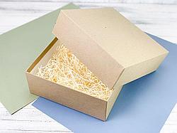 Крафт-коробка из переплётного картона. Размер: 30*25*9 (см)
