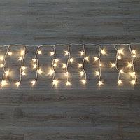 Светодиодная гирлянда Дождь - 6х0.5 метра, 160 лампочек, тёплый свет, светит постоянно