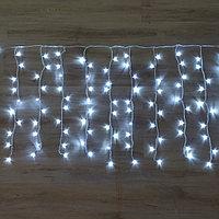 Светодиодная гирлянда Дождь - 6х1 метр, 320 лампочек, белый свет, светит постоянно
