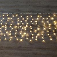 Светодиодная гирлянда Дождь - 6х1 метр, 320 лампочек, тёплый свет, светит постоянно