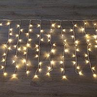 Световая гирлянда Дождь - 3х2 метр, 320 лампочек, тёплый цвет, светит постоянно