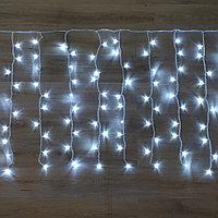 "Гирлянда ""Дождь"" - 6х2 метра, 640 лампочек, белый свет, светит постоянно"