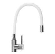 ZERIX LR4898-3 Смеситель для кухни с силиконовым изливом (Цвет белый) (10 шт/ящ)