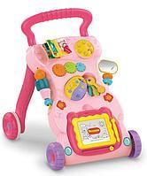 Детские ходунки каталка Умный малыш Haunger Розовый, фото 1