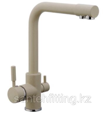 ZERIX LR4055K-3 Смеситель для кухни с выходом для питьевой воды (светло-бежевый матовый) (10 шт/ящ)