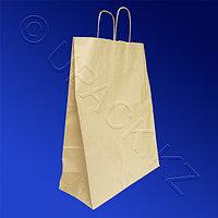 Россия Пакет-сумка бумажная прочная 45х35+15см крафт ручки крученые 70гр/м2
