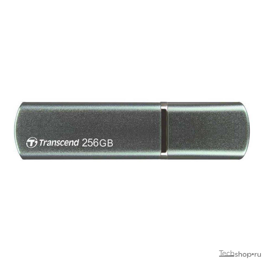 USB Флеш 256GB 3.0 Transcend TS256GJF910 темно-зеленый