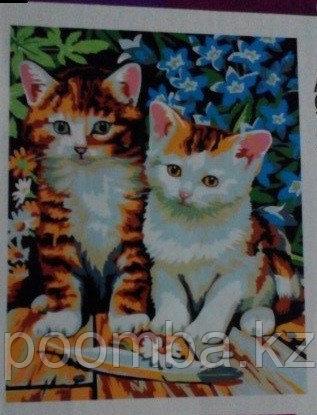 """Картина по номерам """"Котята"""""""