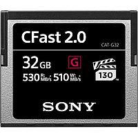 Карта памяти Sony 32GB CFast 2.0 серия G 530 - 510MB/s VPG-130