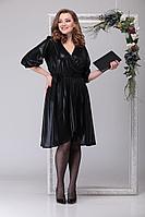 Женское осеннее черное нарядное большого размера платье Michel chic 2029 чёрный 46р.