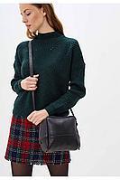 Женская осенняя кожаная черная сумка Igermann 18С830 КЧД без размерар.