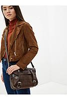 Женская осенняя кожаная коричневая сумка Igermann 14С658 К3 без размерар.