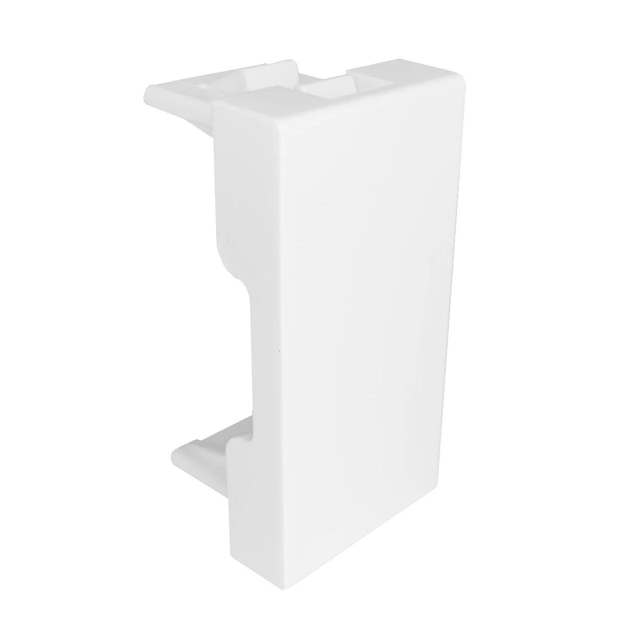 Заглушка белая 45Х22.5 мм для напольных лючков