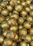 Шоколадные новогодние игрушки на Ёлку (Шарики Золотые) 1кг