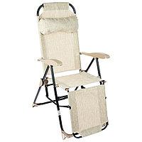 Кресло-шезлонг К3, 82 x 59 x 116 см, белый дым