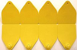 Бирка ушная двойная «Неофлекс » для КРС с номерами, 75х55 мм. Хауптнер