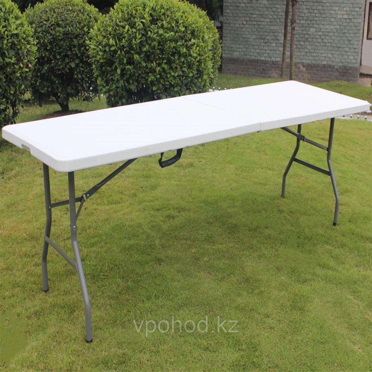 Складной стол с пластиковой 120 см