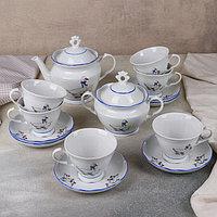 Сервиз чайный «Гуси», ф. «Надежда», 14 предметов