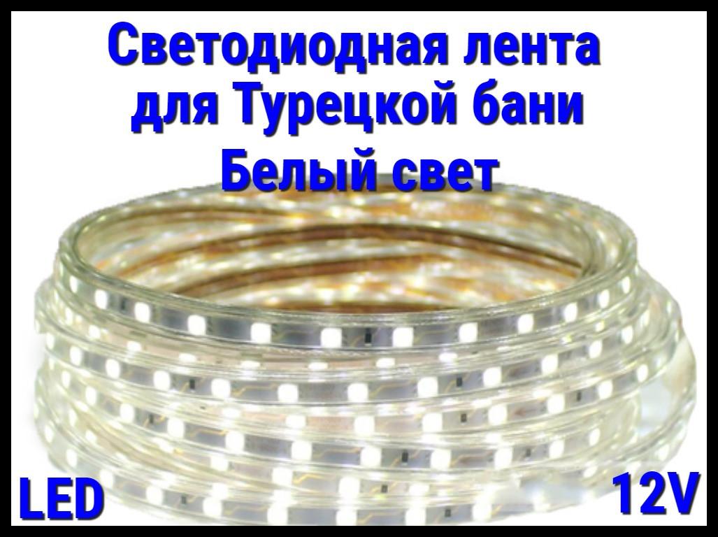 Термостойкая светодиодная лента Neo Neon для Турецкого хаммама (Белый свет, 12V, IP67)