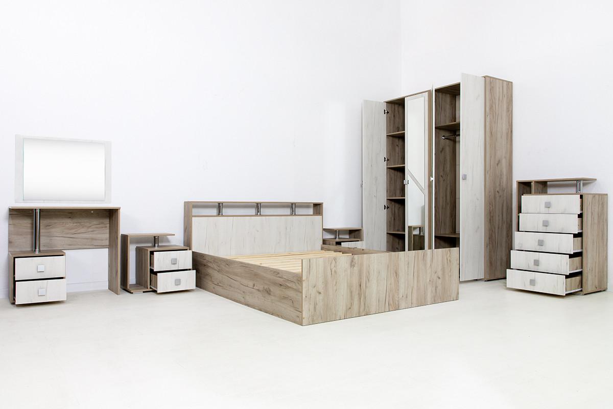 Комплект мебели для спальни Ольга 17, Дуб Крафт/Белый, Фант Мебель(Россия)