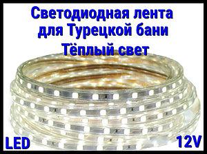 Термостойкая светодиодная лента Neo Neon для Турецкого хаммама (Тёплый свет, 12V, IP67)