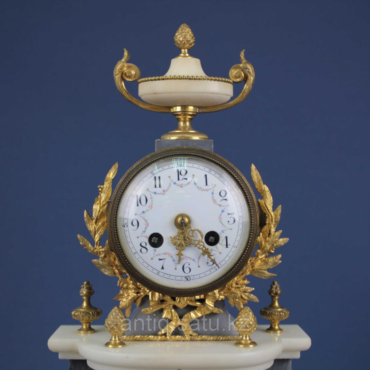 Кабинетный часовой гарнитур в стиле Людовика XVI. 1855 год. Часовая мастерская Vincenti - фото 3