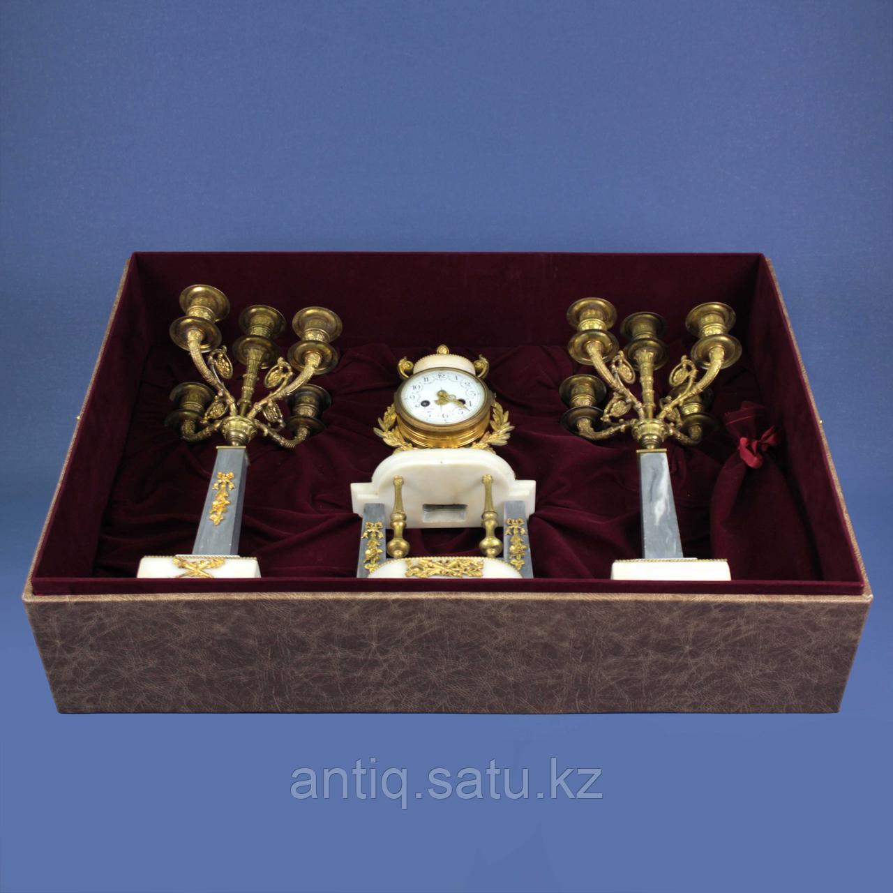 Кабинетный часовой гарнитур в стиле Людовика XVI. 1855 год. Часовая мастерская Vincenti - фото 8