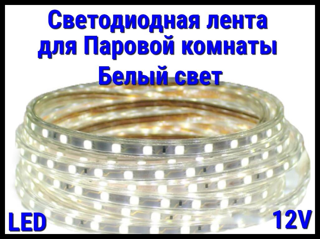 Термостойкая светодиодная лента Neo Neon для Паровых комнат (Белый свет, 12V, IP67)