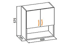 Шкаф кухонный 600, 2Д как часть комплекта Алина, Мрамор, MEBEL SERVICE (Украина), фото 3