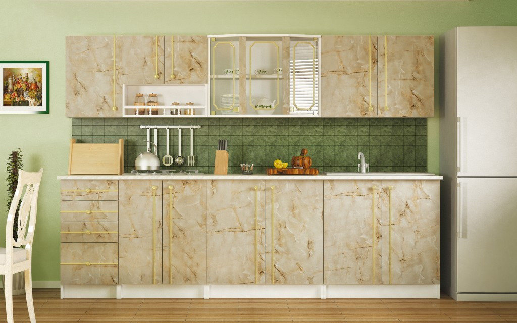 Шкаф кухонный 600, 2Д как часть комплекта Алина, Мрамор, MEBEL SERVICE (Украина)