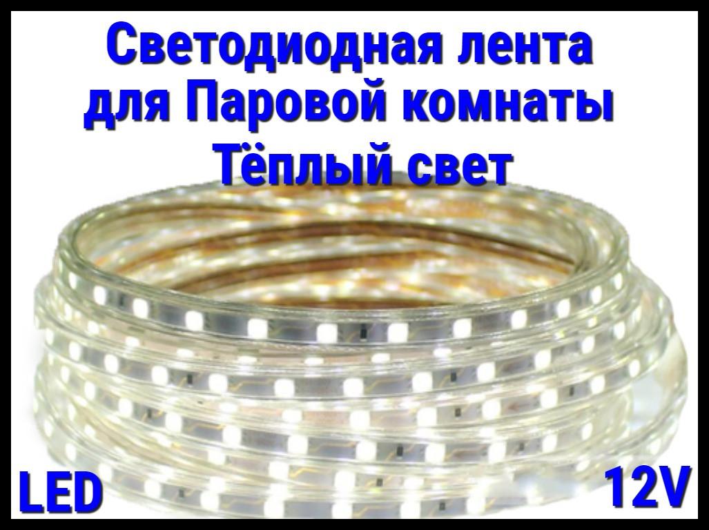Термостойкая светодиодная лента Neo Neon для Паровых комнат (Тёплый свет, 12V, IP67)
