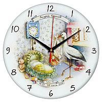 Часы настенные стеклянные Time Wheel, фото 1