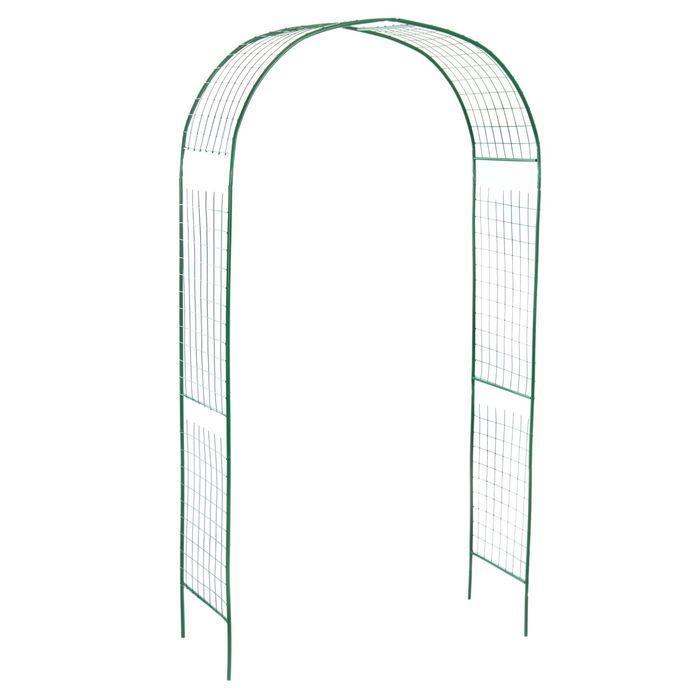 Арка садовая, разборная, 230 × 125 × 50 см, металл, зелёная, «Сетка» - фото 1