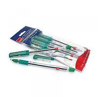 Ручка шариковая Cello Finegrip, 0,7 мм, прозрачный корпус, зеленый