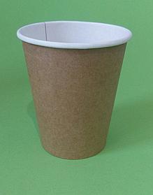 Бумажный стакан крафт однослойный, 300 мл